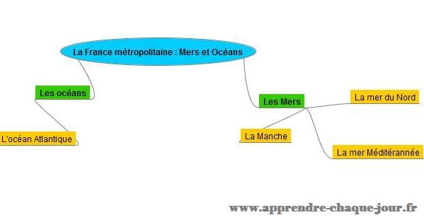 La France métropolitaine les Mers et Océans