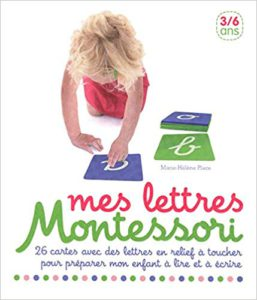 lettres rugueuses Montessori nathan