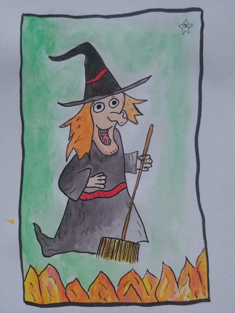 comment dessiner une sorcière pour Halloween