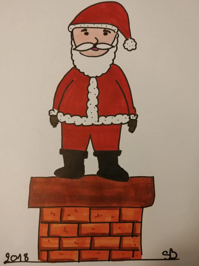 comment dessiner un père-Noel