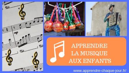 apprendre la musique aux enfants